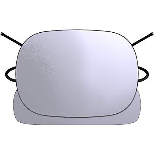 YNES Conveniente la sombrilla del Coche Externa, Duradero y cómodo, Impermeable a Prueba de Nieve Polvo del Viento, de Protección de Coches (Color : White, Size : 106×155cm)