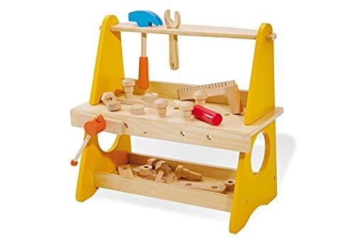 Pinolino Tischwerkbank Basti, aus Holz, mit...