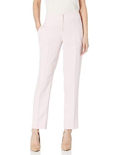 Kasper Women's Herringbone Slim Pant, Tutu Pink/White, 6