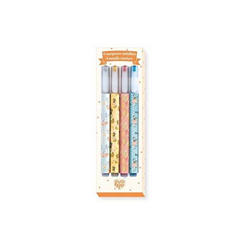DJECO Elodie Metallic Markers, Set of 4