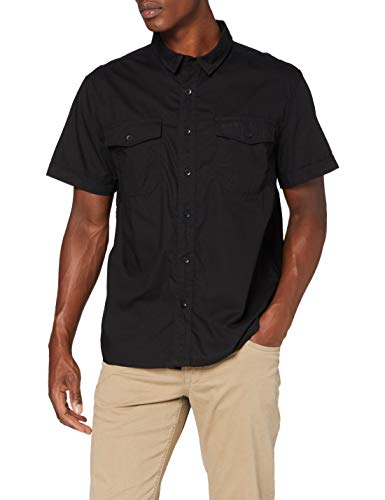 Brandit Herren Roadstar Shirt Hemd, Schwarz, 5XL