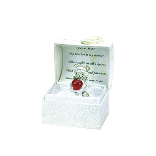 Congratulations Graduation Gift Box Ornaments With Crystal Glass Figurine and Memorable Poem, Perfect Present for University, College, and School Graduates. Special Packaging (Graduation Teacher Box)