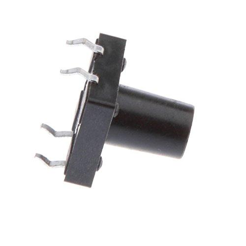 oshhni Interruptor de Botón Pulsador Momentáneo de Montaje en PCB de 50 Piezas 12x12x12mm