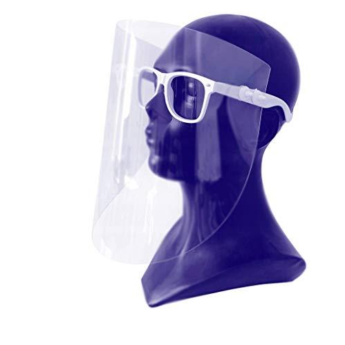 Gesichtsschutzschirm, Gesichtsschutz, Gesichtsmaske, Schutzmaske, Industriemaske, Augenschutz, Kunststoffmaske, Maske mit Brille, sterile Maske, hergestellt in der EU (1 Pack)