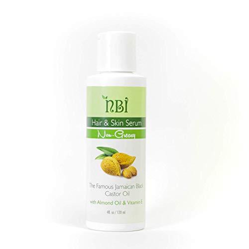 Natural Organic Hair & Skin Serum - NBI All Natural 100% Pure Healing Jamaican Black Castor Oils Mix Premium Grade Moisturizer for Dry & Damaged Skin, Scalp & Strong Hair Growth