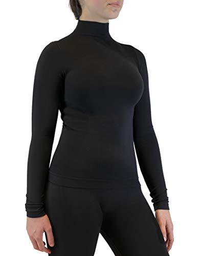FarmaMed Ecodrytech Jersey Cuello Alto Mujer, Camiseta Manga Larga, Oficina, Deporte, Relajamiento,...