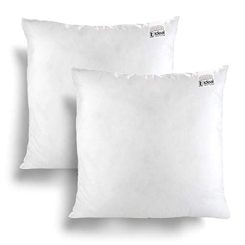 IT IDEAL TEXTILES Pack of 2 20' x 20' Hollowfibre Cushion Inner Pads, Pair White Anti Allergy Cushions Pads, Fully Machine Washable Fibre Cushion Cover Inserts