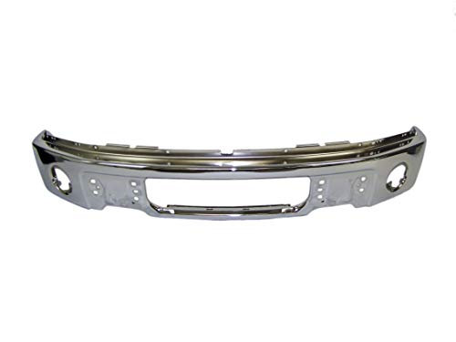 FOR FORD F150 2009-2014 FRONT BUMPER FACE BAR CHROME WITH FOG LAMP HOLES...