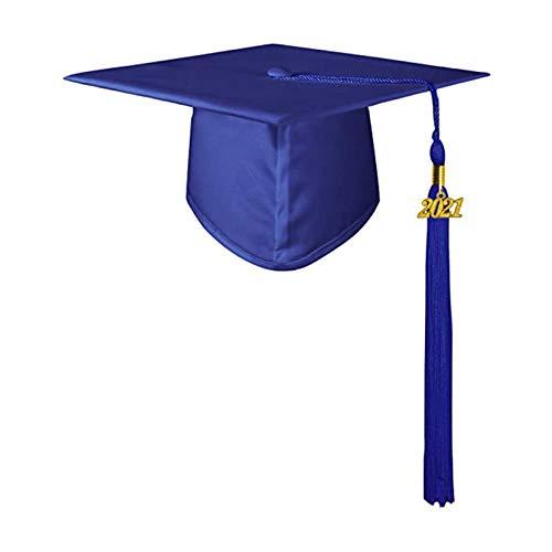 Benoon Gorra De Graduación Unisex Adornos De Graduación Para Adultos 2021 Poliéster Sombrero De Borla De Escuela Secundaria Y Universidad Para Regalos De Graduación De Soltero