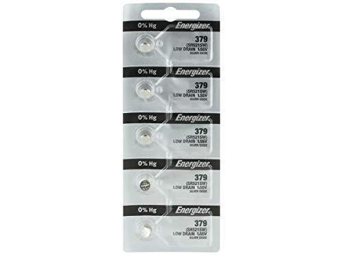 2 pc Energizer 379 SR521SW Silber Oxide Battery