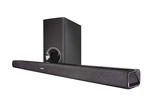 Denon DHT-S316 Soundbar with Subwoofer, Bluetooth Sound Bar for Surround Sound System, Dolby Digital, DTS Decoding, Dialogue Enhancer, HDMI ARC, Wall Mountable, Music Streaming, Including HDMI Cable