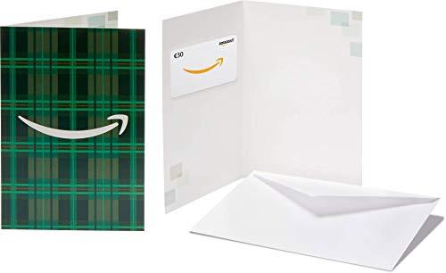 Carte cadeau Amazon.fr - €30 Dans une carte de vœux Motifs verts