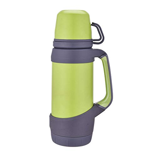 Cup Vacuum Flasks Thermoses Stainless Steel 1.2L Big Size Outdoor Travel Cup Thermos Bottle Thermal Coffee Thermoses Cup Insulation cup (Color : Green)