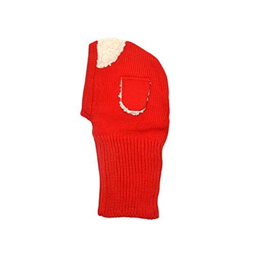 Winter kind puppy sjaal winter sjaal kind hals halsband sjaal puppy wol plus kasjmier pullover baby wol hat (blauw) rood