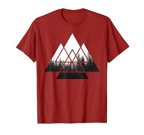 IN THE FOREST Wald Natur Motiv geometrisch Minimalismus T-Shirt