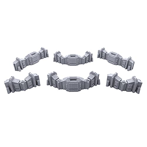 EnderToys Connecting Barricade Wall Set, Terrain Scenery for Tabletop 28mm...