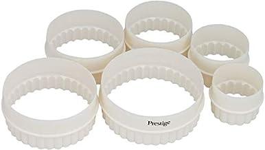 Prestige Shape Biscuit Cutter Set 6 Piece PR8051, White, Round, Plastic