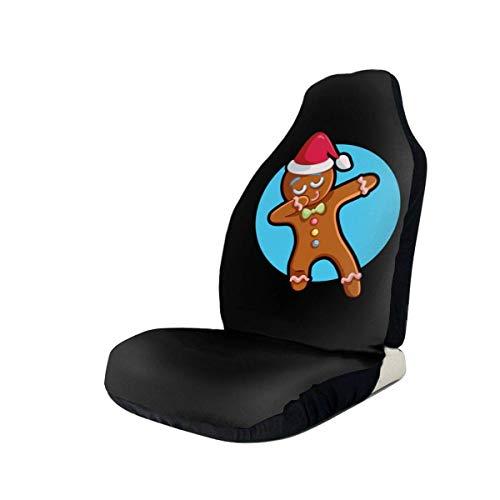 MoonW Lustige Weihnachten Lebkuchenmann Autositzbezug Protector Kissen Premium-Bezüge Für die meisten Autos, LKW, SUV oder Van