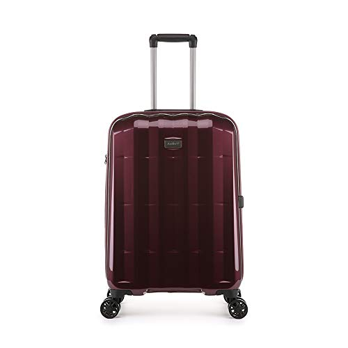 Antler Global DLX, Ultra-Lightweight & Super-Strong Hard Shell Suitcase - Colour: Burgundy, Size: Medium