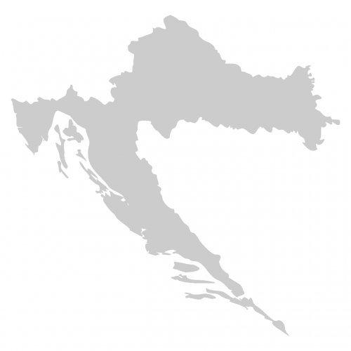 Skyline4u Kroatien Aufkleber in 7 Größen und 25 Farben (10x9,7cm silbermetalleffekt)