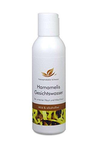 Naturprodukte Schwarz – Hamamelis Gesichtswasser für fettige Haut und Mischhaut, 100 ml