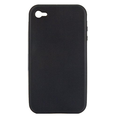 Luxburg® Carcasa de silicona para iPhone 4, 4G y 4S, color negro
