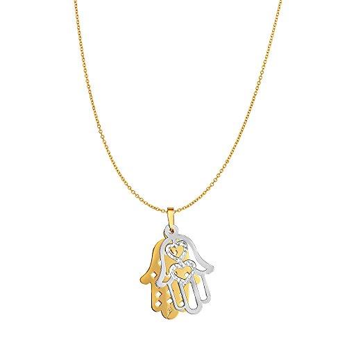 Collar de oro amarillo de 14 quilates con...