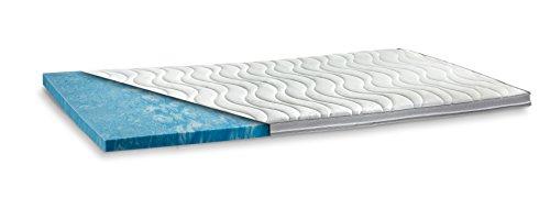 GELAX® | Gel-Schaum Topper Matratzenauflage | 7cm Gesamthöhe | waschbarer Bezug mit 3D-Mesh-Klimaband und Stegkanten | Raumgewicht RG 50 | 90 x 200 cm