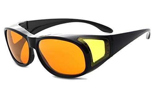 Eyekepper 100% azul reducción,Fitover gafas de ordenador anti-azul con lentes de ámbar extra para mujer, tortuga