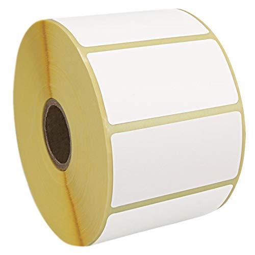 Thermodirekt Etiketten | Thermo-Etiketten | Selbstklebende Etiketten für Thermodrucker | 60 x 30 mm | 1 Zoll-Kern / 1500 Stück auf Rolle