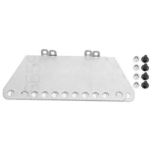 Placa de passo de carro RC, 11 cm * 4,7 cm prata RC Pedais laterais de esteira, Pedal RC, Iniciador de 1 par forte para brinquedos MN modelo 1/12 D90 meninos