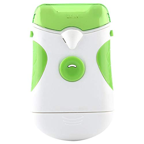2 in 1 Elektrischer Nagelschneider und Nagelfeile, Electric Nails Trim File Clipper, für Neugeborene Erwachsene Erwachsene, Grün