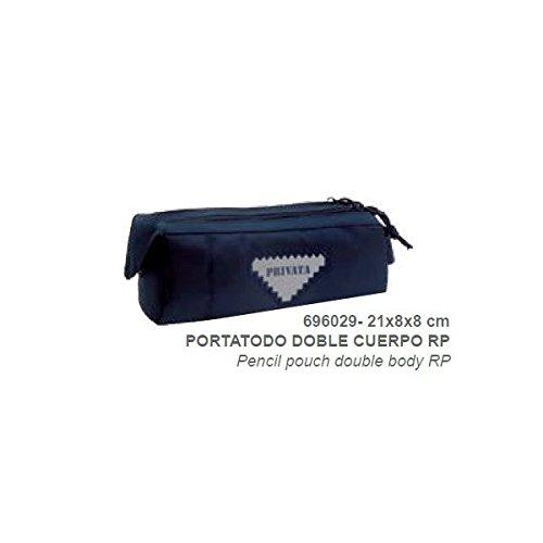 Privata-Trousse double Privata Premium Bleu Bleu