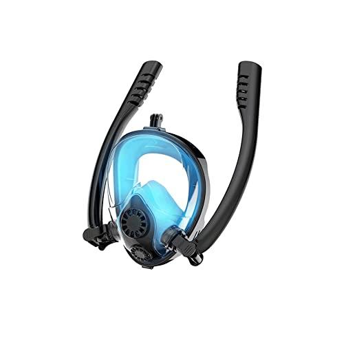 WJYZYHM Mascarilla de Snorkel,máscara de Snorkel de Cara Completa Fácil respiración Anti-Niebla Anti-Fugas,180°Vista al mar Easy Woming Woming máscara for Adultos o niños Anti-Niebla