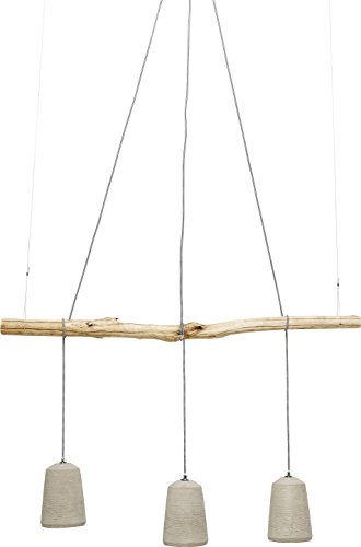 KARE Design Lámpara Colgante Dining, Gris, 120 x 120 x 15 cm, Blanco