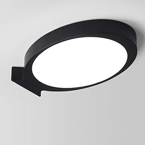 TYUIO Plafonniers LED montés en Surface Ronds IP44, encastrés au Plafond pour Panneaux de Salle de Bains, Salon, Cuisine, Couloir, Couloir. (Couleur: Black-Warm light-66 * 41cm) [Classe énergétique A