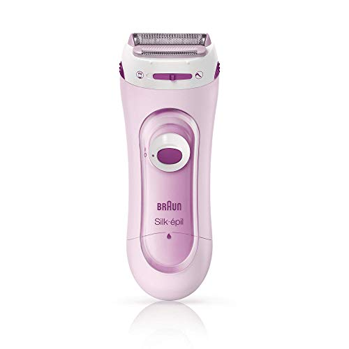 Braun Silk-Epil Lady Shaver 5-100 Pink, Electric Shaver and Trimmer System with 1 Extra
