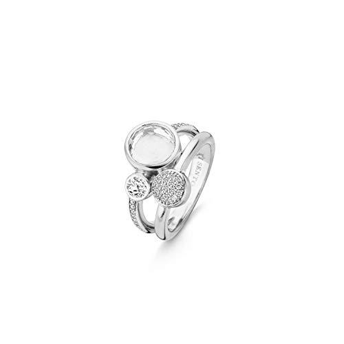TI SENTO - Milano 925 Sterling Zilveren City Chic Ring 12138ZI/54 (Maat: 54)