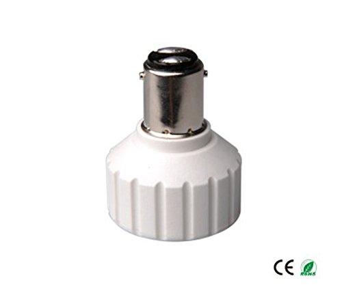 E-Simpo 15-pack BA15D to Gu10 Adapter,BA15D to Gu10 Lamp Base Converter, Z1069