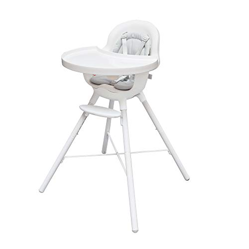 Boon GRUB 2-in-1 Convertible High Chair for Baby & Toddler Chair with Dishwasher-Safe Seat & Tray