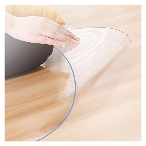 ALGXYQ Transparente Impermeable Protección Suelo de Moqueta Mantel PVC Cojín para Silla de Oficina Paño Vidrio Suave, 36 Tamaños, Personalizable (Color : 1.3mm, Size : 1x1m)
