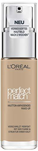 L'Oréal Paris Make up, Flüssige Foundation mit Hyaluron und Aloe Vera, Perfect Match Make-Up, Nr. 2.N Vanilla, 30 ml