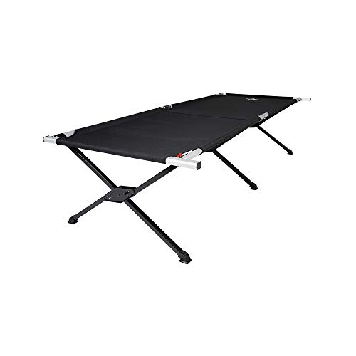 TETON Sports Universal Camp Cot; Folding Cot Great for Car Camping , Black