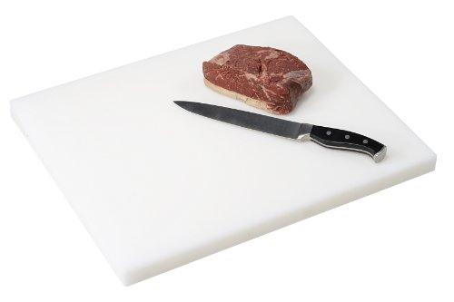 Kesper 30102 Planche à découper épaisse en plastique Blanc 50 x 40 x 3 cm