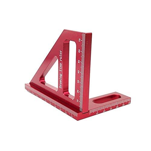 Herramientas Para Trabajar La Madera, Tractor cuadrado de carpintería, regla de triángulo de aleación de aluminio inglete, herramienta de medición de diseño de alta precisión, Para Banco De Trabajo De