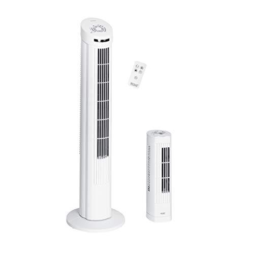 Seville Classics UltraSlimline Tower Fan Combo Pack, White