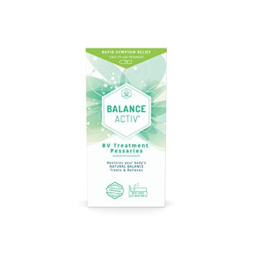 Balance Activ Pessaries | Bacterial Vaginosis Treatment for Women | Works Naturally to Rapidly Relieve Symptoms of Discomfort, Discharge and Unpleasant Odour Associated with BV