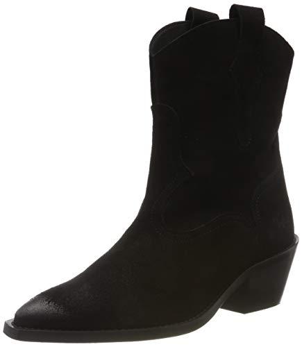 Buffalo Fox, Santiags Femme, Noir (Black 001), 36 EU