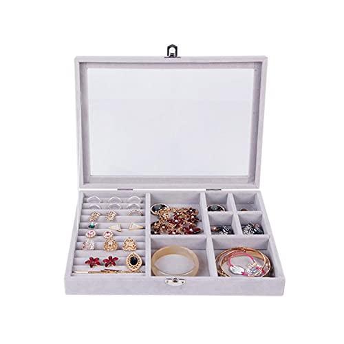 Bract Joyero para mujer con anillos, caja expositora de terciopelo, color morado