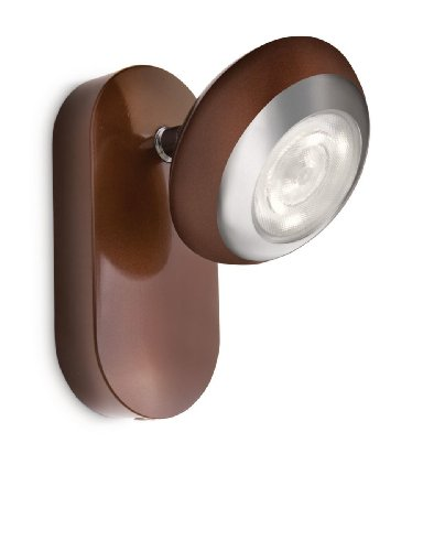 Philips myLiving Sepia LED opbouwspot, 1 lamp, bruin 571704416